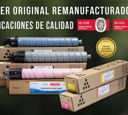 Nuestro Tóner Original Remanufacturado acreditado con las certificaciones de calidad, ISO 19752, ISO 19798, y DIN 33870
