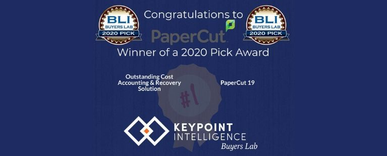 GM Technology, partner autorizado de PaperCut, celebra el premio BLI que ha recibido la solución PaperCut